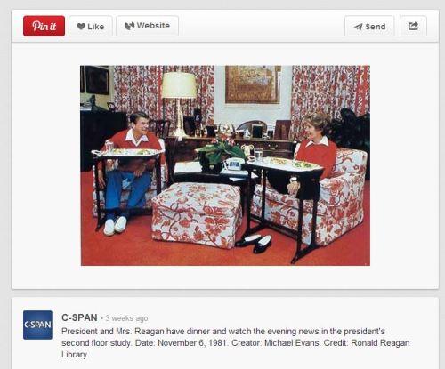 Reagans & TV trays